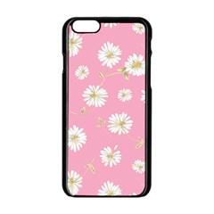 Pink Flowers Apple Iphone 6/6s Black Enamel Case by 8fugoso