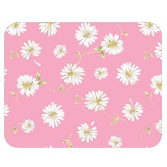 Pink Flowers Double Sided Flano Blanket (medium)  by 8fugoso