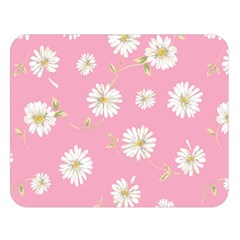 Pink Flowers Double Sided Flano Blanket (large)  by 8fugoso