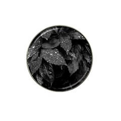 Black And White Leaves Photo Hat Clip Ball Marker (4 Pack) by dflcprintsclothing