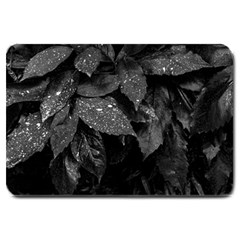 Black And White Leaves Photo Large Doormat  by dflcprintsclothing