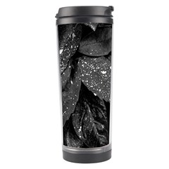 Black And White Leaves Photo Travel Tumbler by dflcprintsclothing