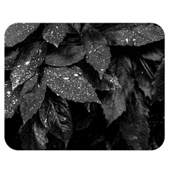 Black And White Leaves Photo Double Sided Flano Blanket (medium)  by dflcprintsclothing