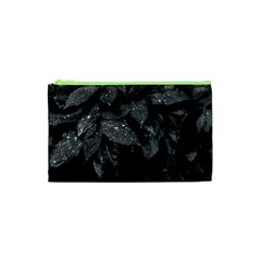 Black And White Leaves Photo Cosmetic Bag (xs) by dflcprintsclothing