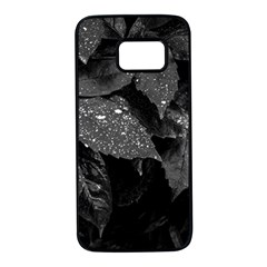 Black And White Leaves Photo Samsung Galaxy S7 Black Seamless Case by dflcprintsclothing