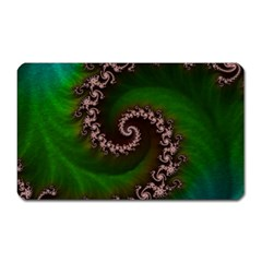 Benthic Saltlife Fractal Tribute For Reef Divers Magnet (rectangular) by beautifulfractals