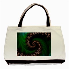 Benthic Saltlife Fractal Tribute For Reef Divers Basic Tote Bag by beautifulfractals