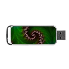 Benthic Saltlife Fractal Tribute For Reef Divers Portable Usb Flash (one Side) by beautifulfractals