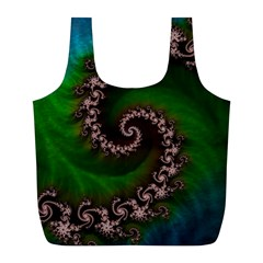 Benthic Saltlife Fractal Tribute For Reef Divers Full Print Recycle Bags (l)  by beautifulfractals