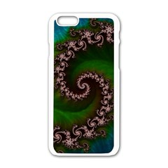 Benthic Saltlife Fractal Tribute For Reef Divers Apple Iphone 6/6s White Enamel Case by beautifulfractals