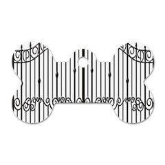 Inspirative Iron Gate Fence Dog Tag Bone (one Side) by Alisyart