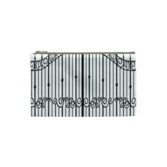 Inspirative Iron Gate Fence Cosmetic Bag (small)  by Alisyart