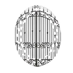 Inspirative Iron Gate Fence Oval Filigree Ornament (two Sides) by Alisyart