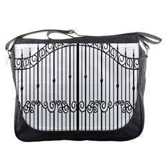 Inspirative Iron Gate Fence Messenger Bags by Alisyart