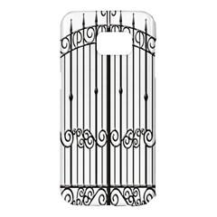 Inspirative Iron Gate Fence Samsung Galaxy S7 Edge Hardshell Case by Alisyart