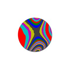 Pattern Rainbow Colorfull Wave Chevron Waves Golf Ball Marker by Alisyart