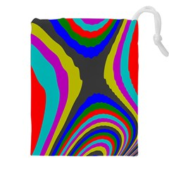 Pattern Rainbow Colorfull Wave Chevron Waves Drawstring Pouches (xxl) by Alisyart