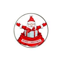 Merry Christmas Santa Claus Hat Clip Ball Marker (10 Pack) by Alisyart