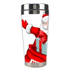 Merry Christmas Santa Claus Stainless Steel Travel Tumblers by Alisyart