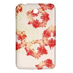 Pattern Flower Red Plaid Green Samsung Galaxy Tab 3 (7 ) P3200 Hardshell Case  by Alisyart