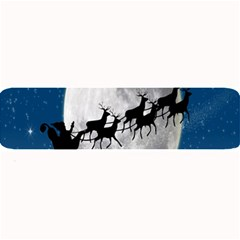 Santa Claus Christmas Fly Moon Night Blue Sky Large Bar Mats