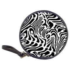 Psychedelic Zebra Pattern Black Classic 20 Cd Wallets by Alisyart