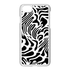 Psychedelic Zebra Pattern Black Apple Iphone 8 Seamless Case (white) by Alisyart