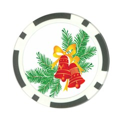 New Year Christmas Bells Tree Poker Chip Card Guard by Alisyart
