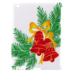 New Year Christmas Bells Tree Apple Ipad 3/4 Hardshell Case (compatible With Smart Cover) by Alisyart