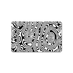 Psychedelic Zebra Black Circle Magnet (name Card) by Alisyart