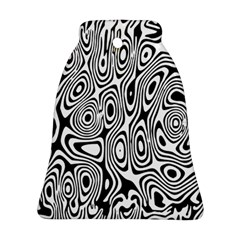 Psychedelic Zebra Black Circle Bell Ornament (two Sides) by Alisyart