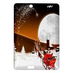 Santa Claus Christmas Moon Night Amazon Kindle Fire Hd (2013) Hardshell Case by Alisyart