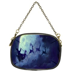 Santa Claus Christmas Night Moon Happy Fly Chain Purses (one Side)  by Alisyart