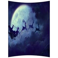 Santa Claus Christmas Night Moon Happy Fly Back Support Cushion by Alisyart