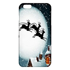 Santa Claus Christmas Snow Cool Night Moon Sky Iphone 6 Plus/6s Plus Tpu Case by Alisyart