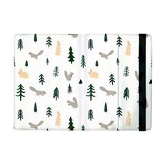 Squirrel Rabbit Tree Animals Snow Apple Ipad Mini Flip Case by Alisyart