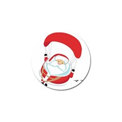 Skydiving Christmas Santa Claus Golf Ball Marker (10 Pack) by Alisyart