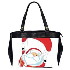 Skydiving Christmas Santa Claus Office Handbags (2 Sides)  by Alisyart