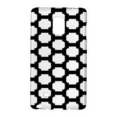 Tile Pattern Black White Galaxy Note Edge by Alisyart