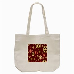 Snowflake Winter Illustration Colour Tote Bag (cream) by Alisyart