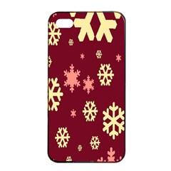 Snowflake Winter Illustration Colour Apple Iphone 4/4s Seamless Case (black) by Alisyart