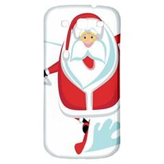 Surfing Snow Christmas Santa Claus Samsung Galaxy S3 S Iii Classic Hardshell Back Case by Alisyart