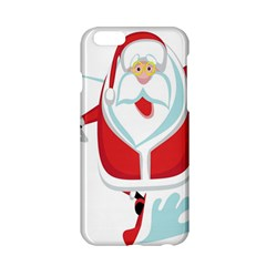 Surfing Snow Christmas Santa Claus Apple Iphone 6/6s Hardshell Case by Alisyart