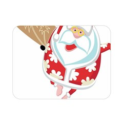 Surfing Christmas Santa Claus Double Sided Flano Blanket (mini)  by Alisyart