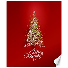 Tree Merry Christmas Red Star Canvas 8  X 10  by Alisyart