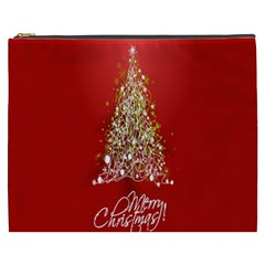 Tree Merry Christmas Red Star Cosmetic Bag (xxxl)  by Alisyart