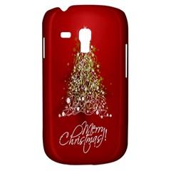 Tree Merry Christmas Red Star Galaxy S3 Mini by Alisyart