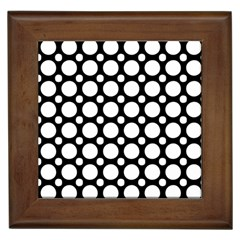 Tileable Circle Pattern Polka Dots Framed Tiles by Alisyart