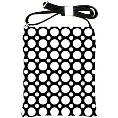 Tileable Circle Pattern Polka Dots Shoulder Sling Bags by Alisyart