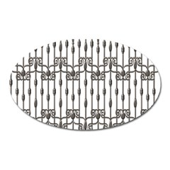 Iron Fence Grey Strong Oval Magnet by Alisyart